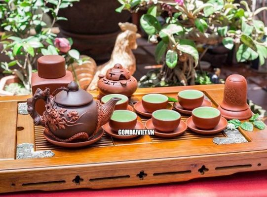 Vẻ đẹp tinh tế của những bộ ấm chén pha trà Bát Tràng