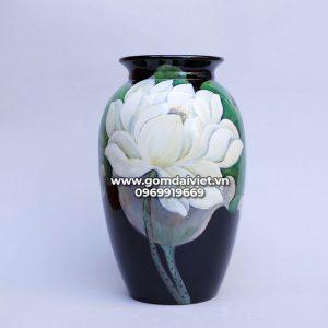 Vò lọ hoa đạn sơn mài 3D