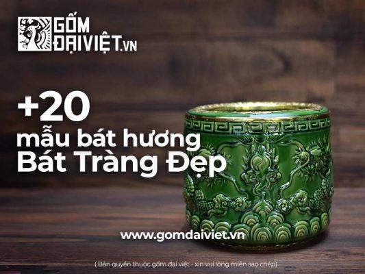 Tổng hợp các Mẫu Bát Hương Bát Tràng Đẹp bán chạy nhất Việt Nam