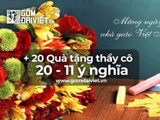 Mua gì làm quà tặng thầy cô giáo ngày 20 11 ý nghĩa nhất ?