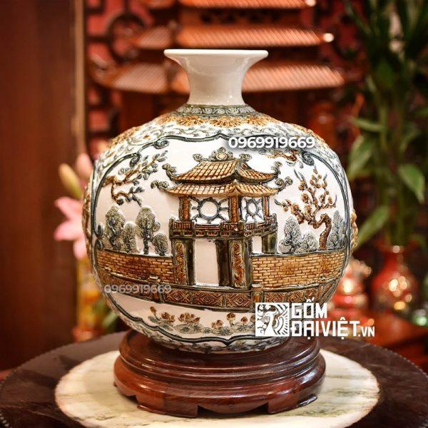 Bình hút tài lộc - đắp cảnh Hà Nội, Khuê Văn Các, Chùa một cột 35cm