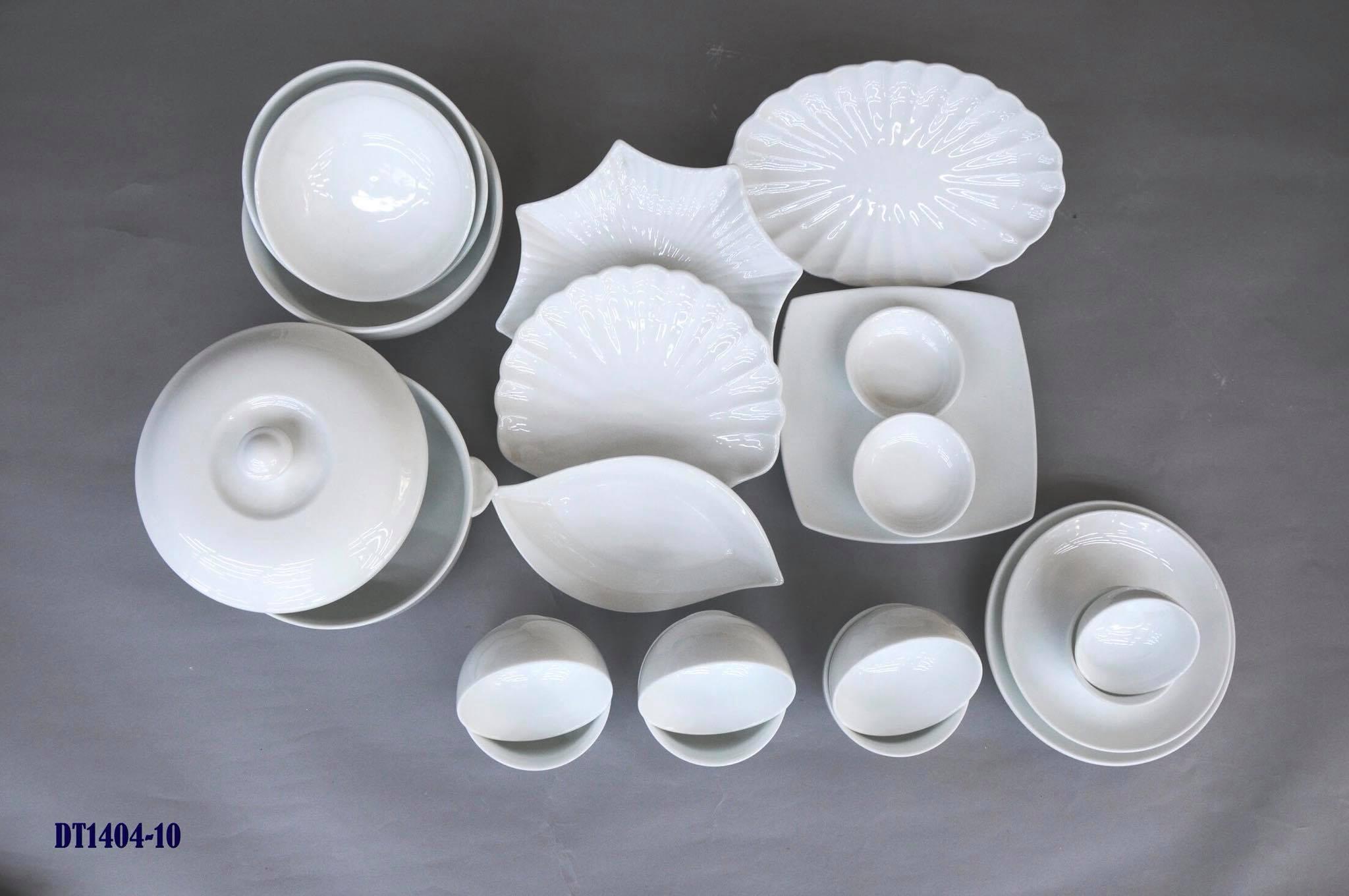 Mức giá bát đĩa trắng sứ Bát Tràng trên thị trường