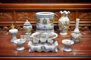 Bộ đồ thờ gốm sứ Bát Tràng - Ban Chung Cư