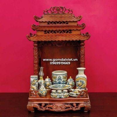 kích thước bàn thờ Thần tài - Ông địa 81 x 81 x 108