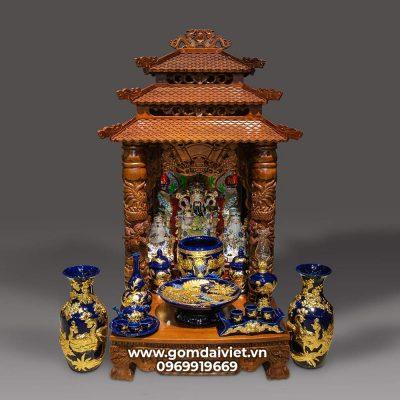 kích thước bàn thờ Thần tài - Thổ địa 61 x 61 x 88