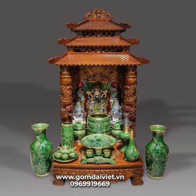 kích thước bàn thờ Ông địa - Thần tài 48 x 48 x 68