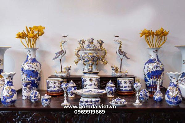 Bộ đồ thờ vẽ vàng ban 1m97