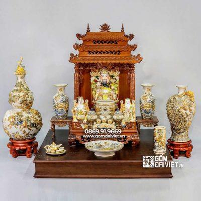 Mẫu đồ thờ thần tài tại Vĩnh Phúc