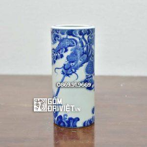Ống Hương Men Rong vẽ Rồng 23cm