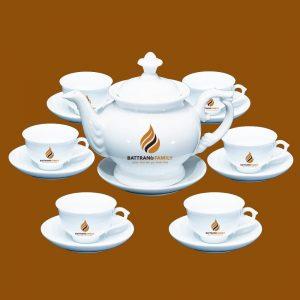 Bộ ấm chén Bát Tràng in logo 4