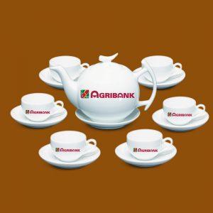 Bộ ấm trà in logo Agribank