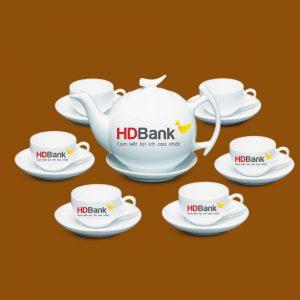 Bộ ấm trà in logo HDBank