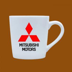 Ly sứ quà tặng Bát Tràng in logo Mitsubishi