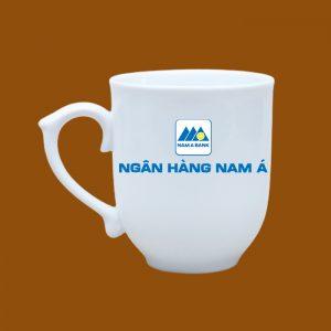 Ly sứ quà tặng Bát Tràng in logo Ngân Hàng Nam Á