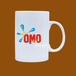 Ly sứ quà tặng Bát Tràng in logo OMO