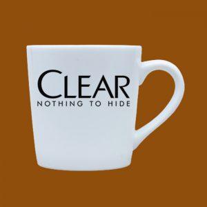 Ly sứ quà tặng Bát Tràng trắng logo Clear