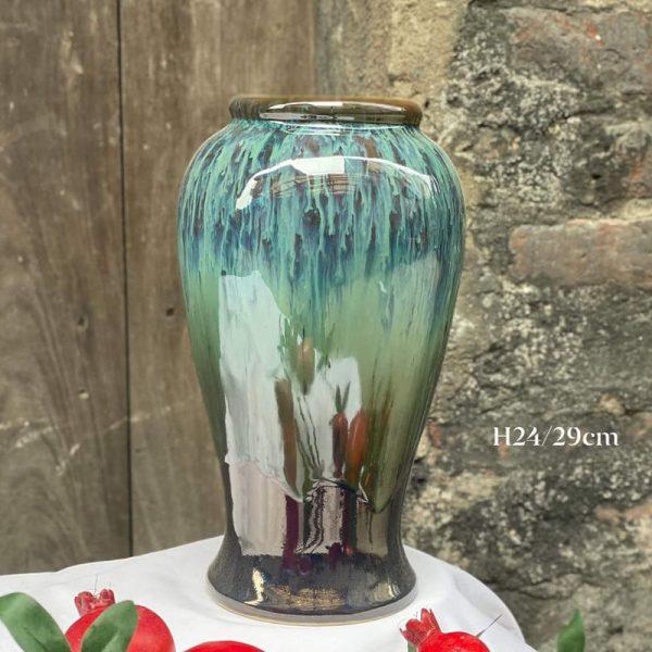 Bình hoa gốm sứ Bát Tràng H24cm