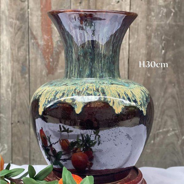 Bình hoa tỏi cổ cụt H30cm