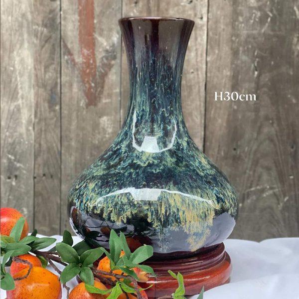 Bình hoa tỏi phệ H30cm